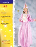 Fasching Gr104/S Fee rosa Kleid Hut