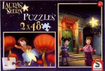 Puzzle    2 x 48 Teile Lauras Stern Laura und Ling-Ling