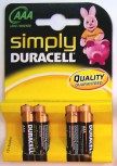 Batterie LR03 AAA Micro 4er Duracell Simply Alkaline
